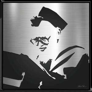 Rav Elazar Menachem Man Shach Metal Portrait