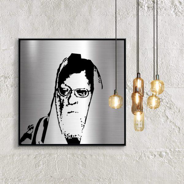 Rav Elyashiv metal portrait on wall