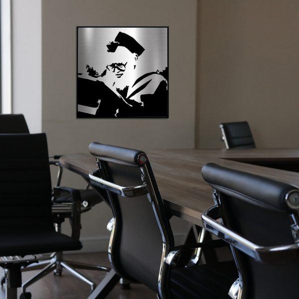 Rav Shach portrait in office