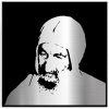 Baba Sali modern metal portrait