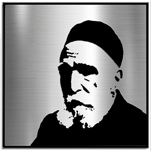 Rav Moshe Feinstein Metal portrait artwork